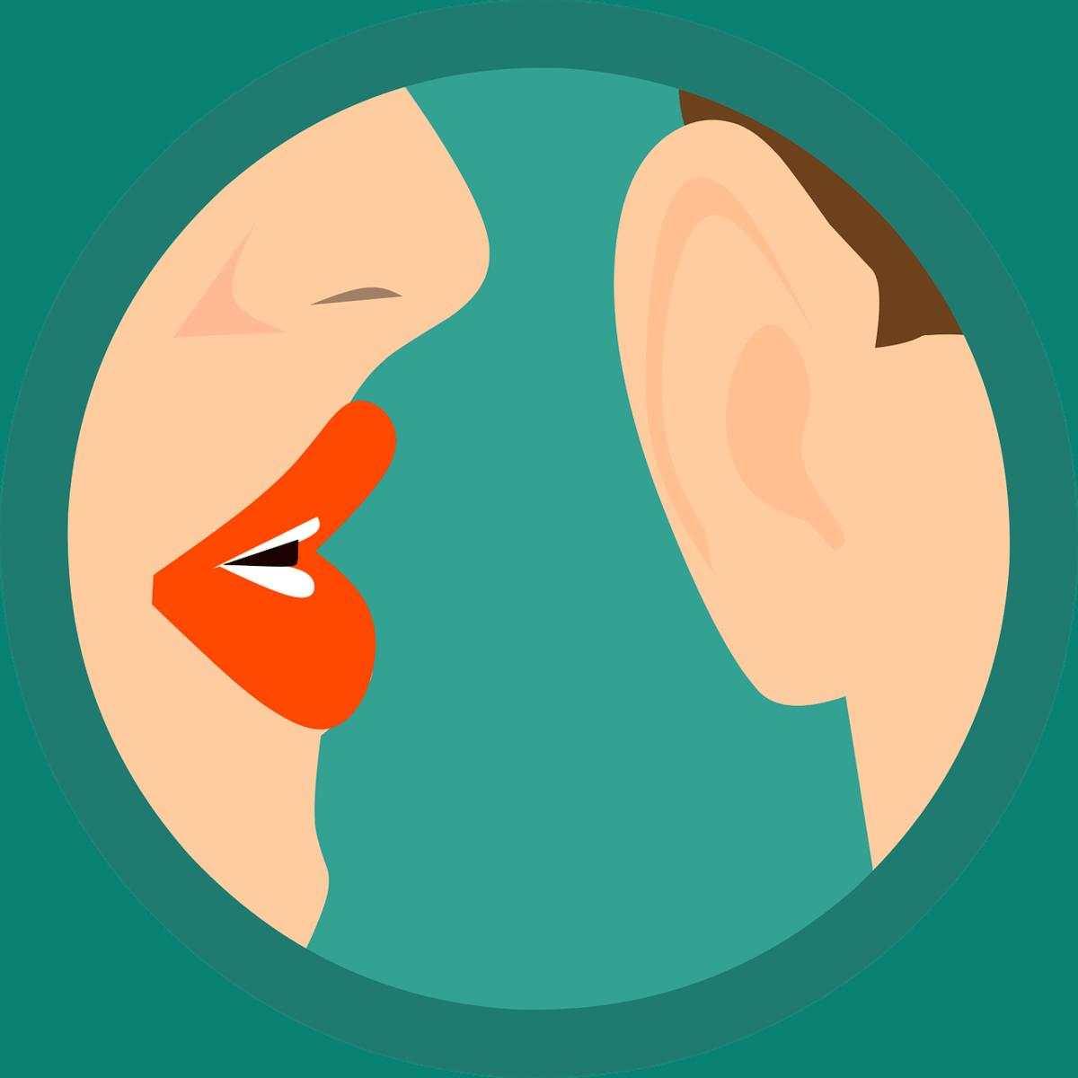 לחישה באוזן