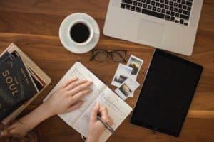 סביבת עבודה לכתיבת תוכן - תמונה להמחשה